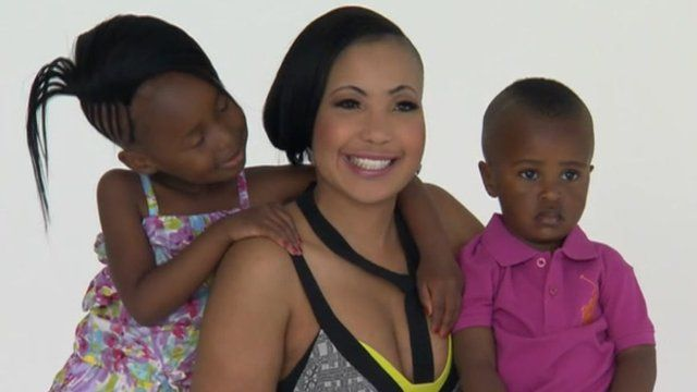 Nomasonto Mnisi, pictured with her children