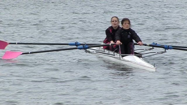 Rowers in training