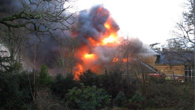 The fire at Lytchett Minster Upper School on 27 December 2012