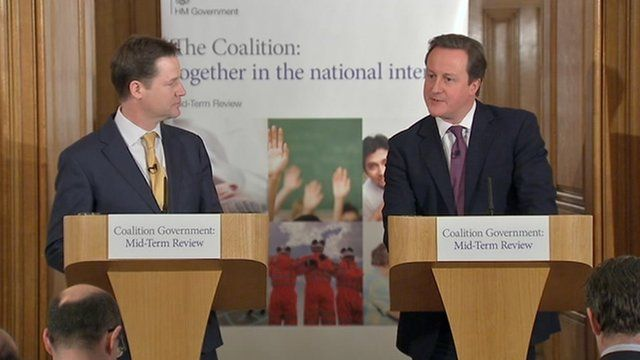 Nick Clegg, left, with David Cameron