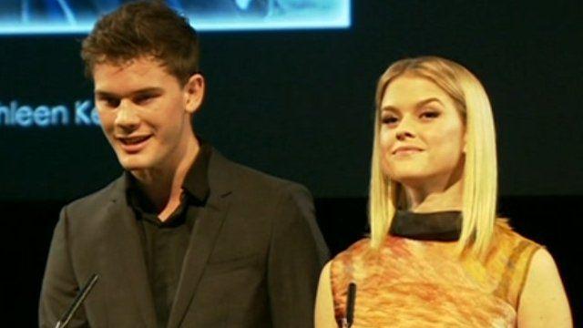 Jeremy Irvine and Alice Eve