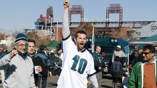 "Bradley Cooper playing Pat Solatano in a scene from the film, ""Silver Linings Playbook"""