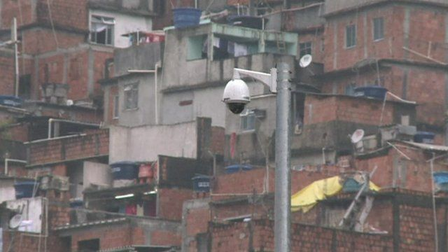 A CCTV camera in Rocinha
