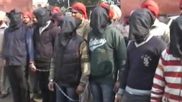 Arrested men