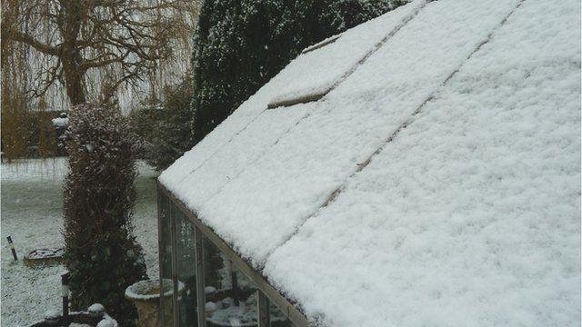 Snow in Norton, Malton, North Yorkshire