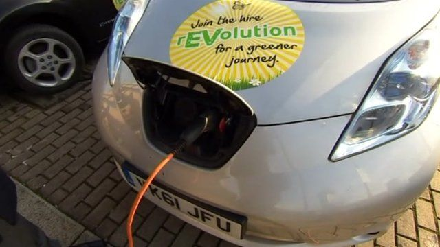 Charging an electric car in Milton Keynes