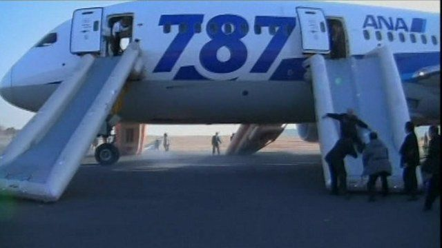 Man being rescued from plane