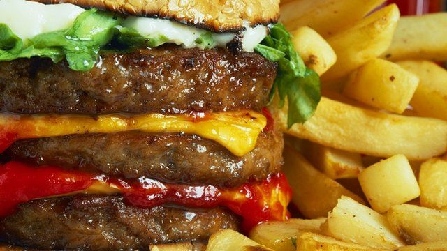 A beef burger