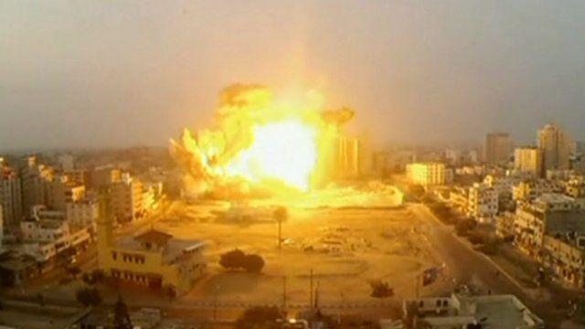Explosion in Gaza