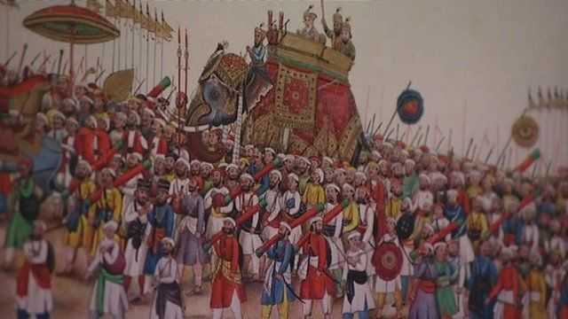 Painting of the Mughal army