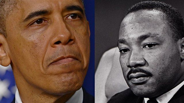 Barack Obama and Martin Luther King Jr
