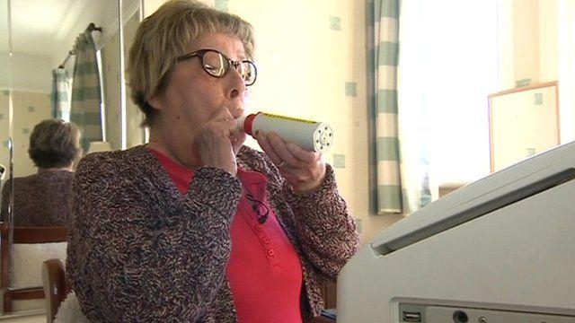 Patient using telecare