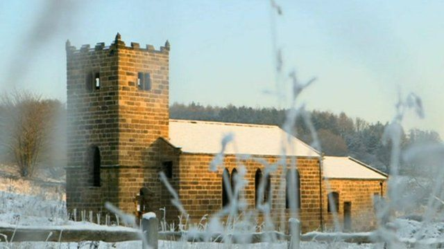 St Helen's Church in its new location at Beamish Museum