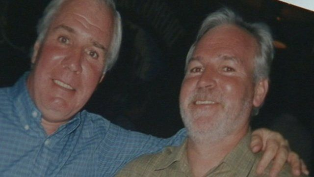Bob Whiteside and his brother Kenny (right)