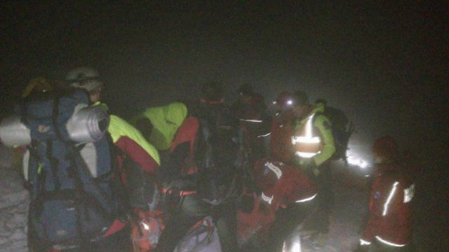 A mountain rescue
