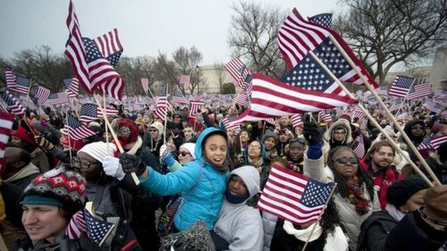 Crowds gathered in Washington