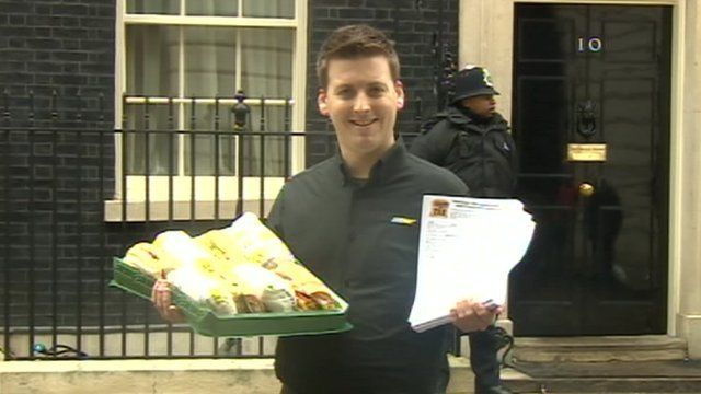 Subway's David Cameron in Downing Street