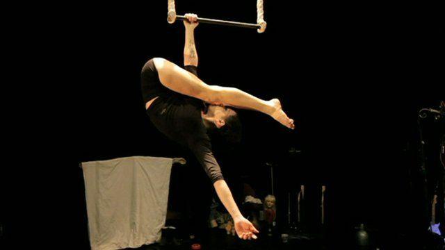 Eva Ordonez Benedetto on a trapeze