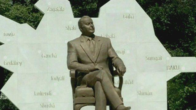 Heydar Aliyev statue