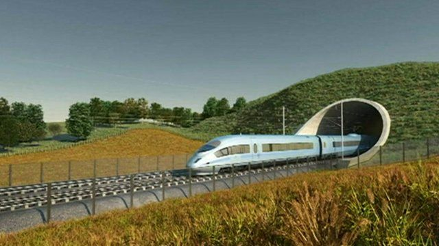 Animated image of proposed HS2 train