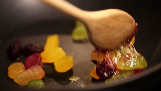 picture of melted wine gum sweets
