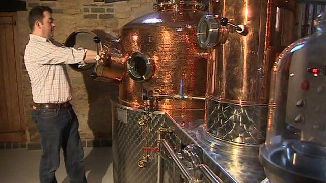 Tom Warner in his distillery