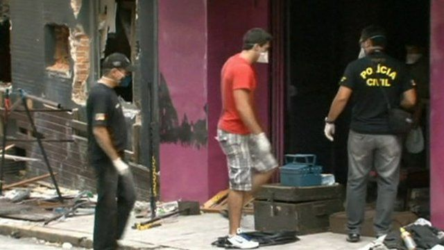 Brazilian nightclub damaged by fire