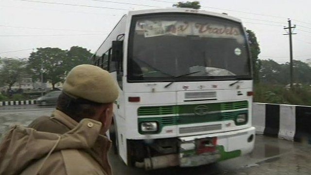 The bus believed to have been used in the attack was brought to the Delhi court