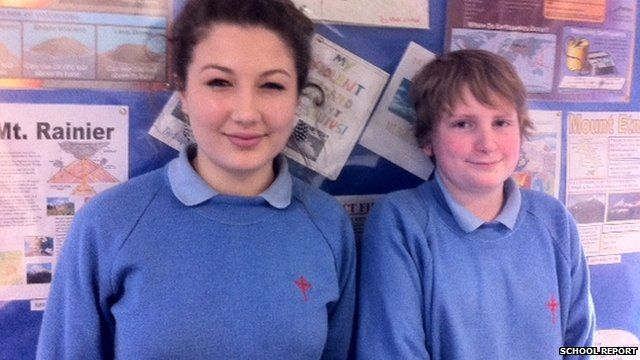 Emilie and Ben, students from Cardinal Newman Catholic School
