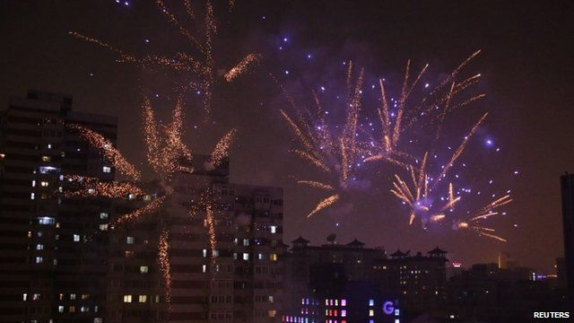 Fireworks light up Beijing skyline