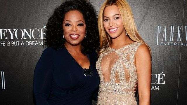 Oprah Winfrey and Beyonce Knowles