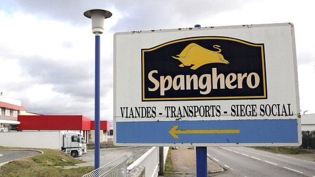 Spanghero signpost