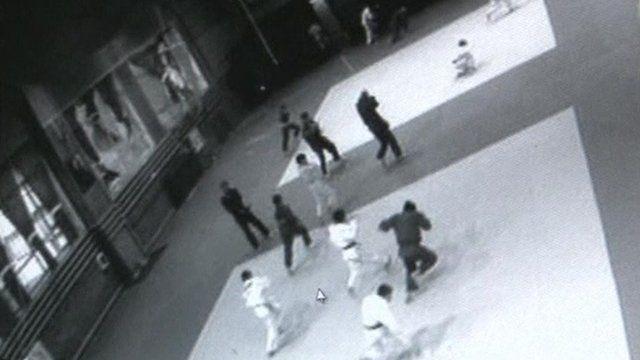 CCTV shows schoolchildren running from meteor impact