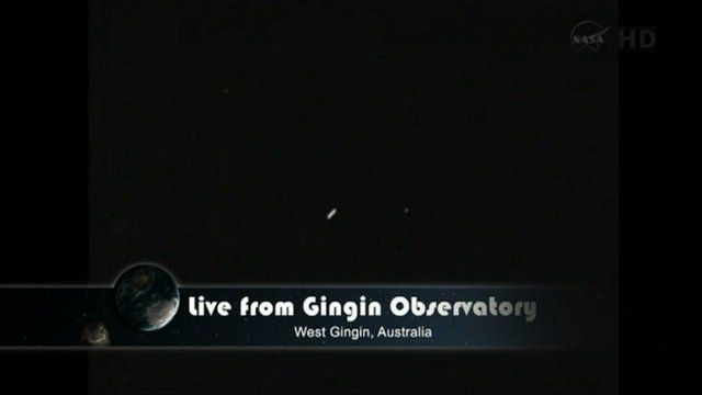 Nasa footage of asteroid