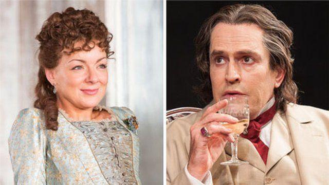 Sheridan Smith as Hedda Gabler and Rupert Everett as Oscar Wilde in The Judas Kiss