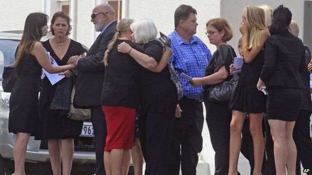 Reeva Steenkamp's family at her funeral