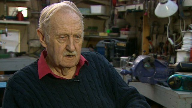 Inventor Trevor Baylis, who invented the wind-up radio