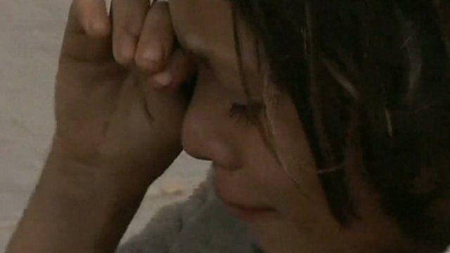 Child cries