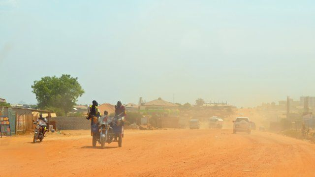 One of Juba's many unpaved roads