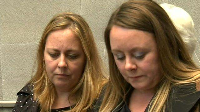 Ms Mills-Westley's daughters, Sarah and Sam