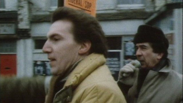 Simon Hughes on 1983 campaign trail