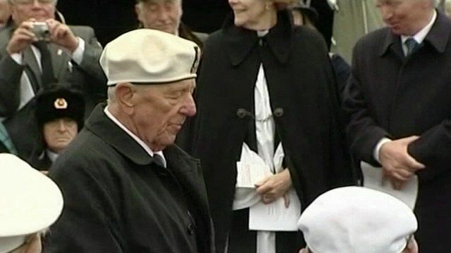 An Arctic Convoy veteran at remembrance ceremony