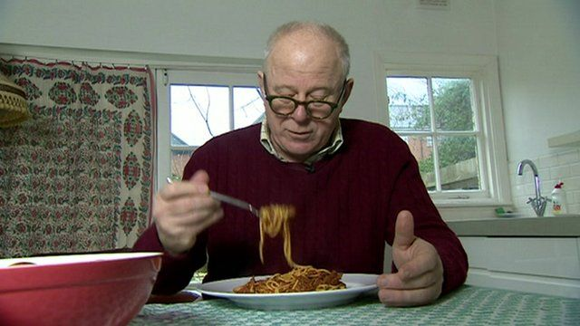 Food critic Matthew Fort samples a ready meal