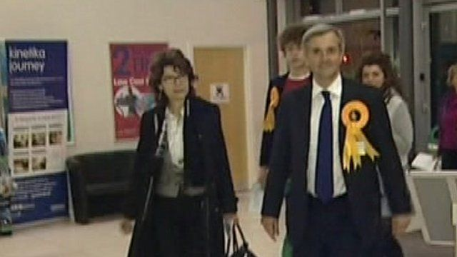 Vicky Price and Chris Huhne