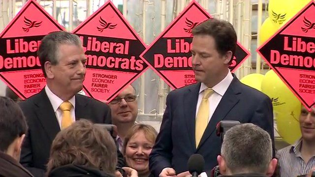 Mike Thornton with Nick Clegg