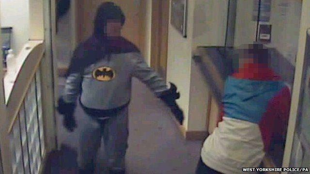 Batman and suspect