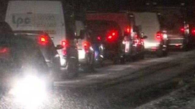 Snow and ice cause travel disruption