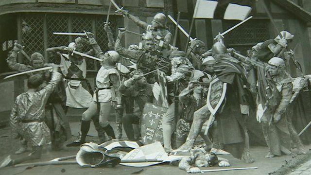 Production of Henry V at King Edward VI school, Stratford upon Avon, in 1913