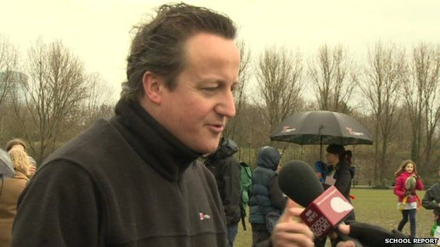 David Cameron answers questions from School Reporters
