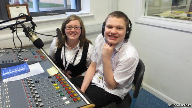 Radio Star Rory in the Studio at Duncanrig School